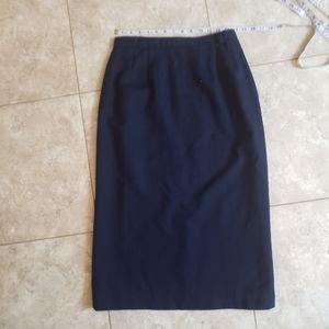 Vintage 100% merino wool pencil skirt